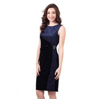 Sleeveless Velvet Brocade Sheath