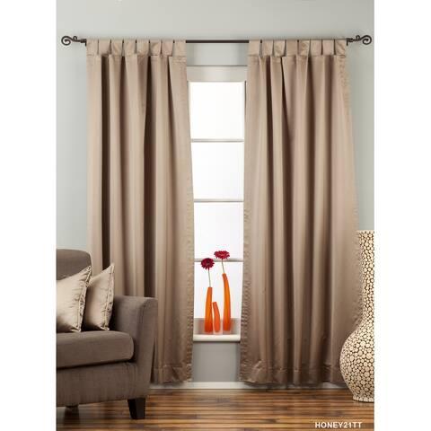 Brownish Gray Tab Top blackout Curtain / Drape / Panel - Piece