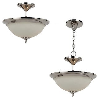 Sea Gull Lighting 79771BLE-841 2-L Convertible Pendant Ceiling Polished Nickle - nickel finish