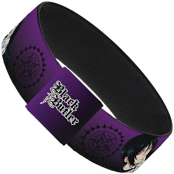 Black Butler Sebastian Purple Elastic Bracelet