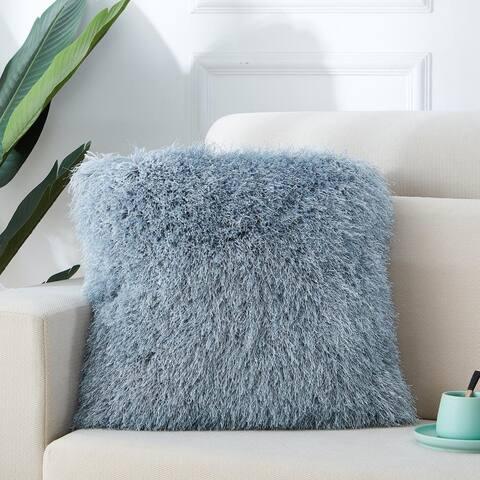 Manhattan Collection Shag Pillow