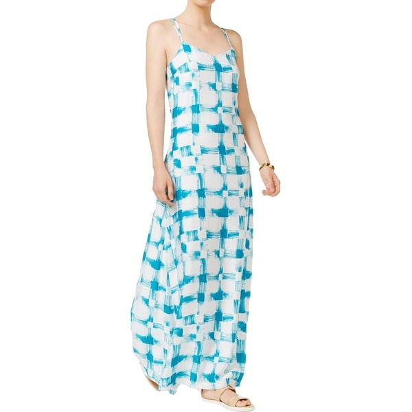 b9a197f4ac724 Shop Armani Exchange Womens Maxi Dress Sheer Printed - Free Shipping On  Orders Over $45 - Overstock - 19977867