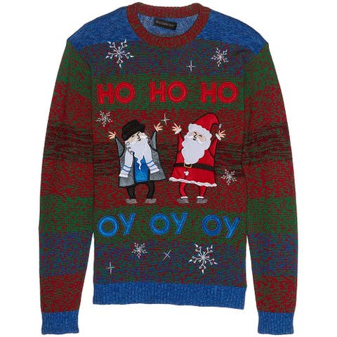 Blizzard Mens Sweater Blue Size XL Crewneck Christmas Light Up Knit
