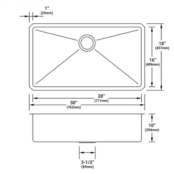 Shop Miseno Mss3018sr 30 Undermount Single Basin Kitchen