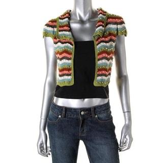 Nanette Lepore Womens Knit Embellished Shrug Sweater - S