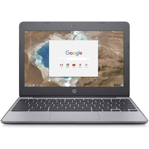 "Refurbished HP Chromebook 11-v010nr Intel Celeron N3060 4GB 16GB eMMC 11.6"" Ash Gray"
