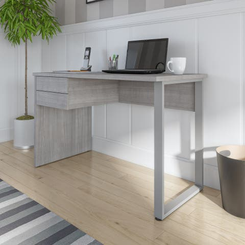 Bestar Solay 48W Small Table Desk with U-Shaped Metal Leg