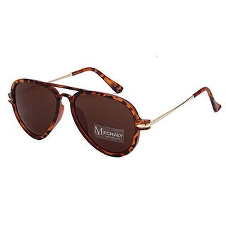Mechaly Unisex Tortoise Aviator Style Sunglasses