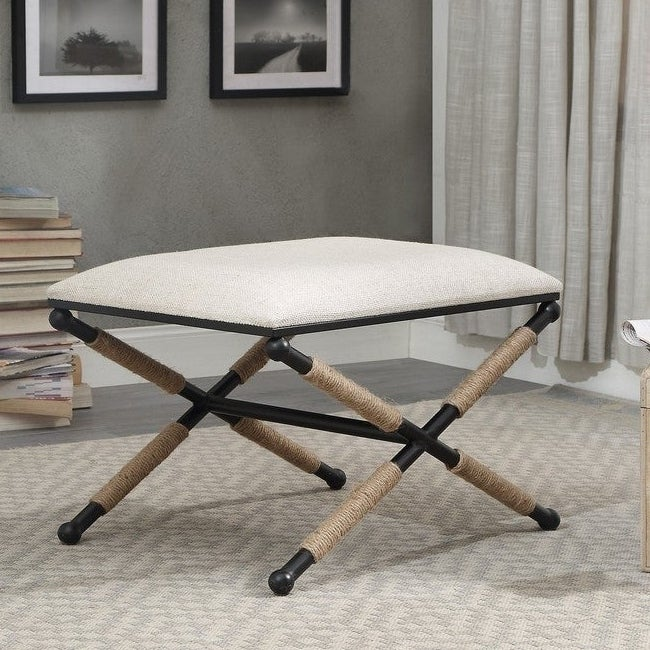 Ella Campaign Accent Stool On Sale Overstock 21585996