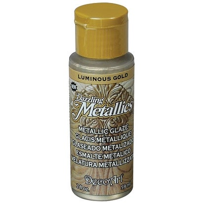 Dazzling Metallic Glaze Acrylic Paint 2oz-Luminous Gold