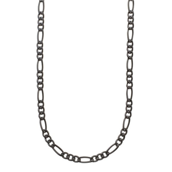 Men's Figaro Chain Necklace in Stainless Steel