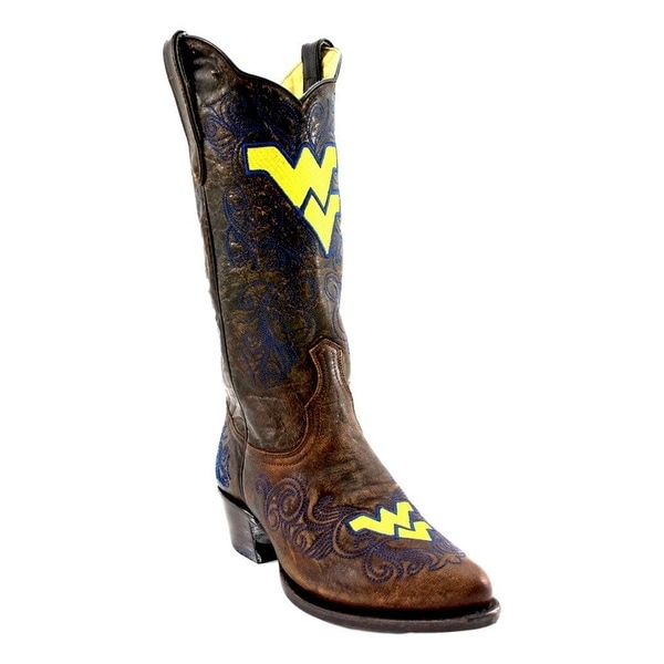 Gameday Boots Women West Virginia Distressed Leather Pointed