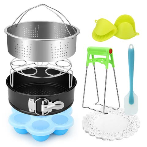 FITNATE 8 Pack Instant Pot Accessories Steamer Basket Egg Bites Mold Egg Steamer Rack Instant Pot Pressure Cooker - S