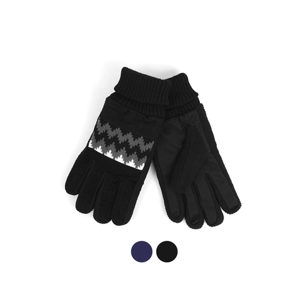 b0882bafb Men's Leather Non-Slip Grip Winter Gloves with Soft Acrylic Lining