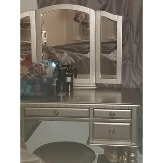 Shop Bobkona St Croix Rubberwood Veneer 3 Fold Mirror