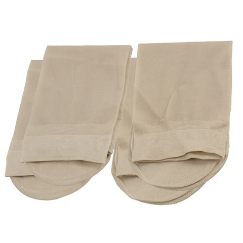 Unique Bargains Woman Beige Stretch Fabric Stretch Ankle Socks 2 Pairs