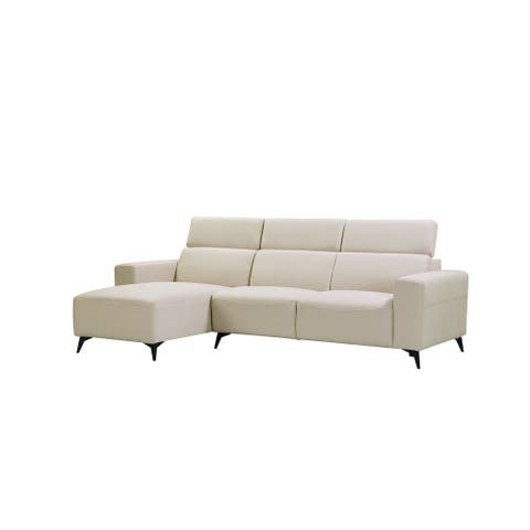 Pasargad Home Modern Bari Sectional Sofa With Push Back Functional