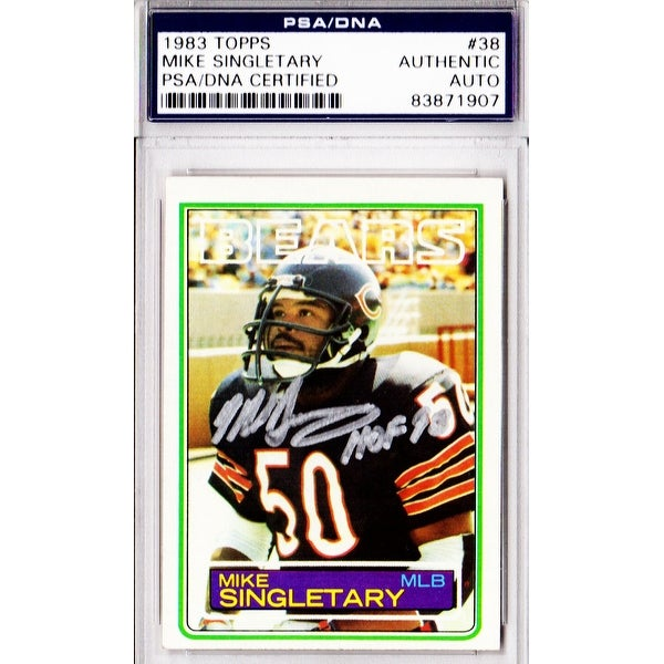 uk availability 64e21 8afb3 Mike Singletary Chicago Bears 1983 Topps Rookie Card 38 wHOF98