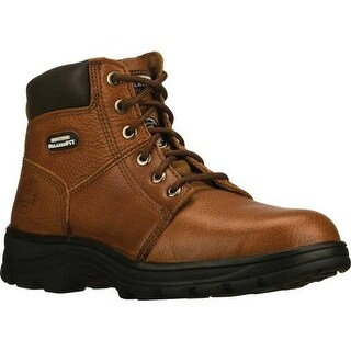 Skechers Men's Work Relaxed Fit Workshire Steel Toe Brown
