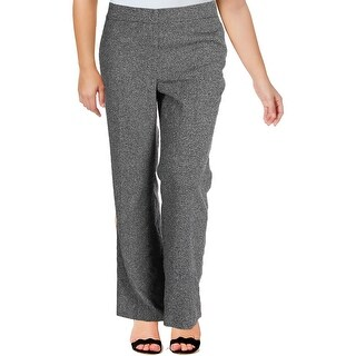 Nine West Womens The Neo Classic Casual Pants Tweed Textured