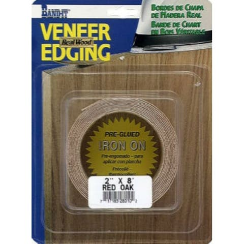 """Band-IT 28010 Real Wood Veneer Edgebanding, 2"""" x 8', Red Oak"""