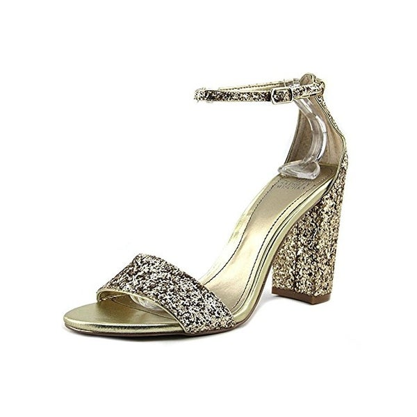 Belle Badgley Mischka Womens Zoelle Dress Sandals Block Heel Open Toe