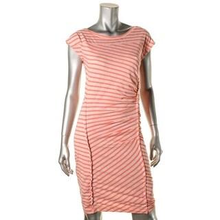 Line Womens Casual Dress Jersey Striped