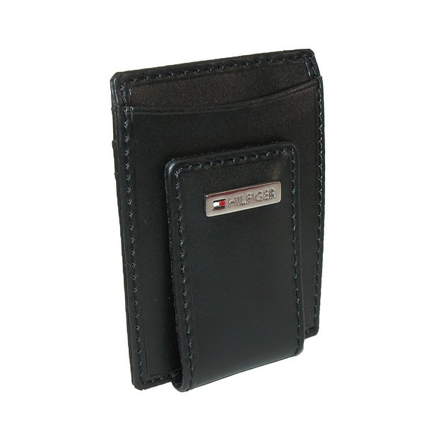 Tommy Hilfiger Men's Leather Fordham Card Case Wallet with Money Clip - One size