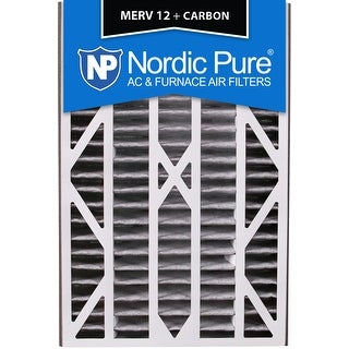 Nordic Pure 16x25x3 Air Bear Cub Replacement MERV 12 Pleated Plus Carbon Qty 1