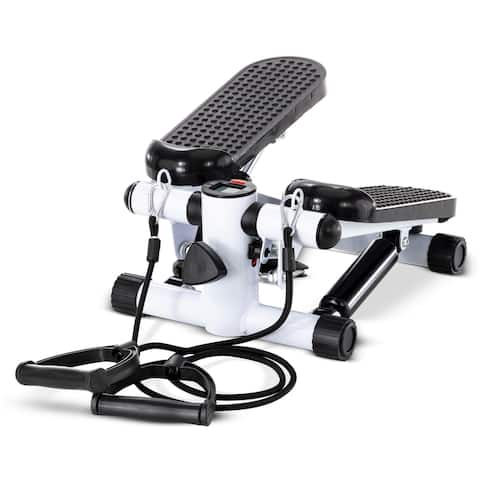 Elliptical Fitness Stepping Machine With Resistance Bands