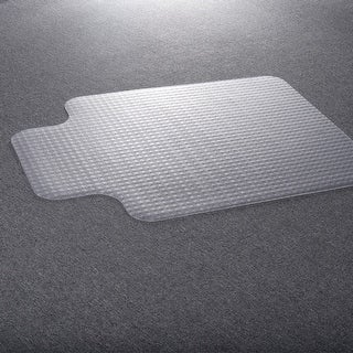 Costway PVC Chair Floor Mat Standard Pile Carpet - clear