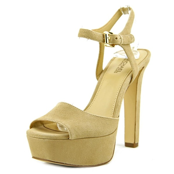Michael Michael Kors Trish Sandal Women  Open Toe Suede  Platform Sandal