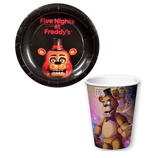 Link to Five Nights at Freddy's Paper Cups and Plates Set - Multi Similar Items in Glasses & Barware