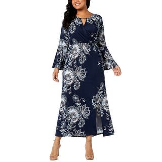 5ebd60ef3a608 Quick View. Was  20.97.  4.19 OFF. Sale  16.78. NY Collection Blue Women s  Size 2X Plus Keyhole Printed Maxi Dress