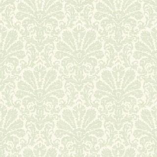 Brewster DLR54642 Seascape Green Damask Wallpaper