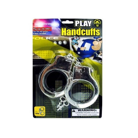 Kole Imports KL159-96 Police Play Plastic Handcuffs - Pack of 96