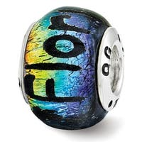 Sterling Silver Reflections Florida Dichroic Glass Bead (4mm Diameter Hole)