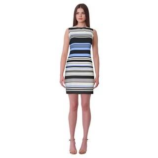 Lauren Ralph Lauren Petite Albina Striped Shift Dress - 14P