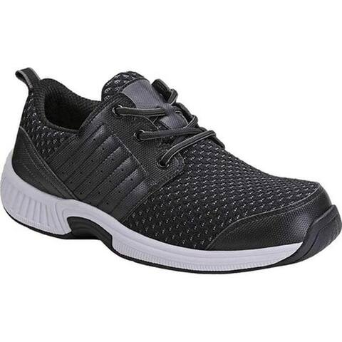 Orthofeet Men's Tacoma Sneaker Black Synthetic
