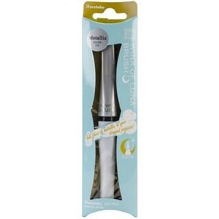 Zig Zig Memory System Wink of Luna Metallic Brush Pen, Silver