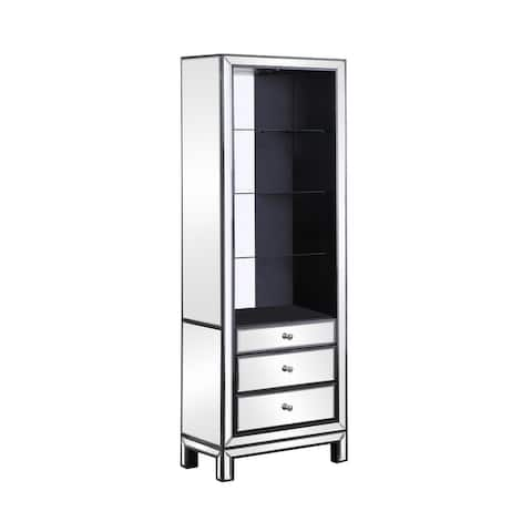 Black Titanium and Silver 3-drawer Media Tower