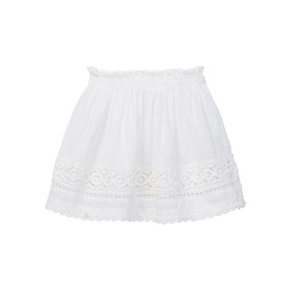 Azul Little Girls White Peasant Look Lace Short Skirt