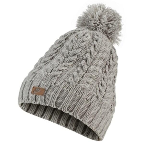 Nike Women's Sportswear Knit Pom Beanie Hat, Dark Grey. Opens flyout.
