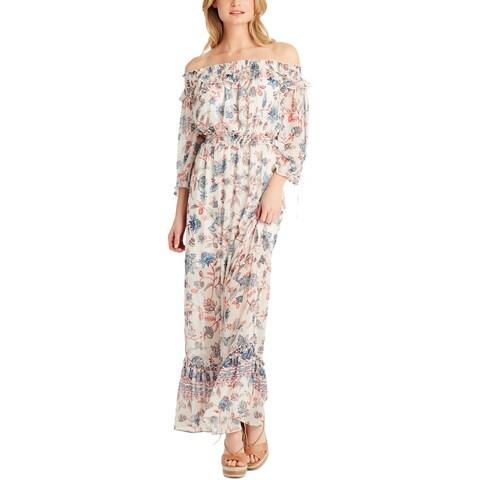 Jessica Simpson Womens Maxi Dress Off-The-Shoulder Floral - XL