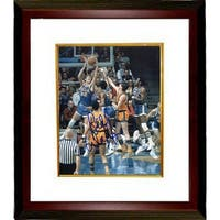Bill Walton signed UCLA Bruins 8X10 Photo Custom Framed blue jersey dunk vertical