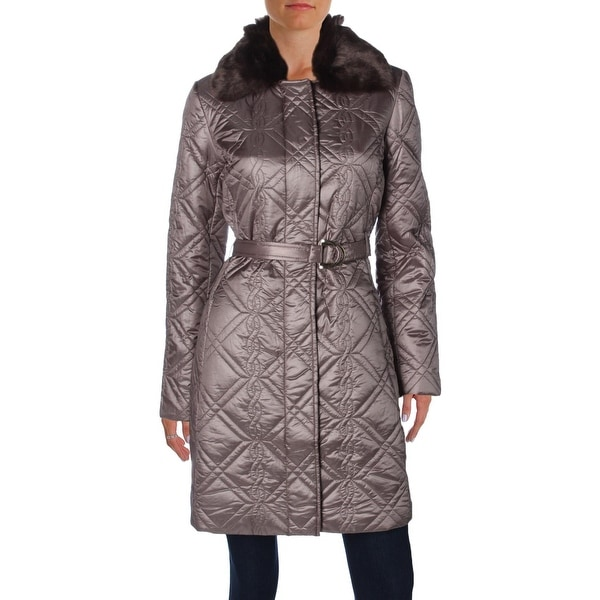 0e03a32be8 Shop Dress Barn Womens Quilted Coat Winter Faux Fur - Free Shipping ...