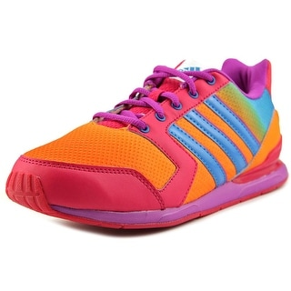 Adidas Streetrun VII K Youth Round Toe Synthetic Orange Sneakers