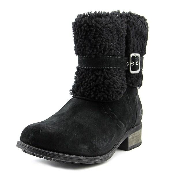 Ugg Australia Blayre II Women Round Toe Suede Black Winter Boot