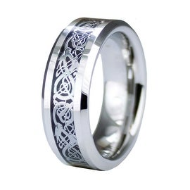 Grooved Superior Cobalt Ring with Step Down Edge