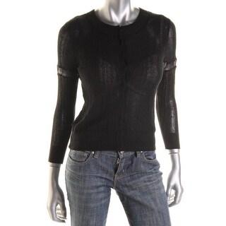 Free People Womens Linen Long Sleeves Cardigan Sweater - L